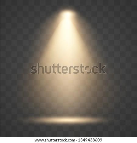 Light sources, concert lighting, stage spotlights. Floodlight  beam, illuminated spotlights for web design and projection studio lights beam concert club show scene illumination. Royalty-Free Stock Photo #1349438609