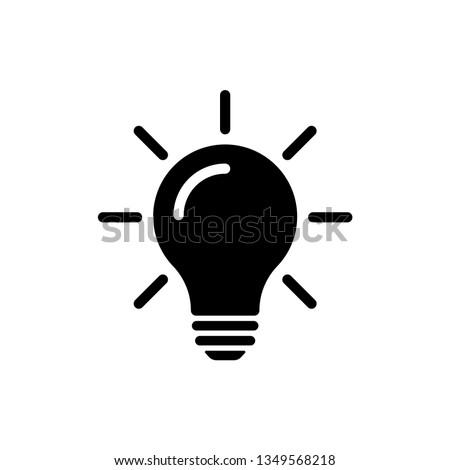 Bulb light vector icon. Lighting Electric lamp. Electricity, shine. Light Bulb icon vector, isolated on background. Bulb light icon - Idea sign, solution. Bulb light symbol Energy  Royalty-Free Stock Photo #1349568218