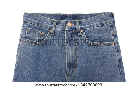 Blue Jeans Isolated on White #1349700893