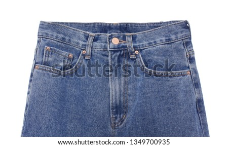 Blue Jeans Isolated on White #1349700935