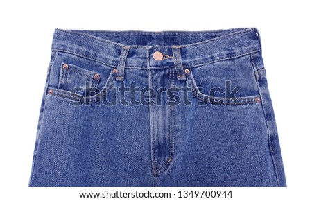 Blue Jeans Isolated on White #1349700944