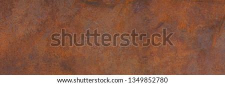 Panoramic grunge rusted metal texture, rust and oxidized metal background. Old metal iron panel. High resolution quality  #1349852780