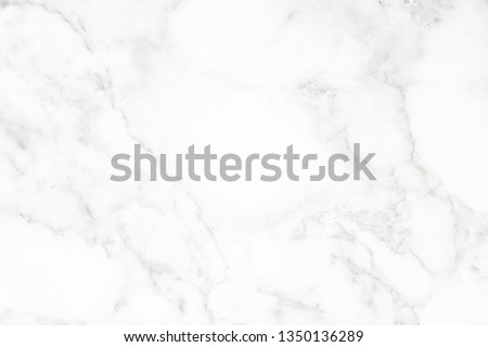 White marble surface for do ceramic counter, white light texture tile gray background marble natural for interior decoration and outside. #1350136289
