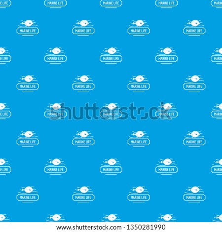 Marine life pattern seamless blue repeat for any use #1350281990