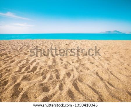 beach and beautiful tropical sea #1350410345