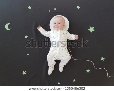 Baby in the space