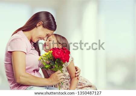 Happy Mother and daughter together #1350487127