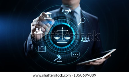 Labor law, Lawyer, Attorney at law, Legal advice business concept on screen. #1350699089