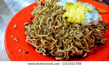 """""""Mie abang ade"""" -  very hot with 50 piece spicy chilly is only at indonesia. #1351062788"""
