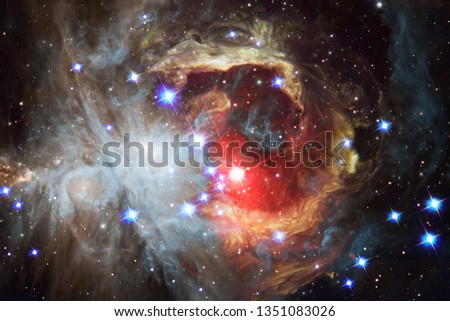 Nebulae and many stars in outer space. Elements of this image furnished by NASA. #1351083026