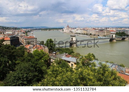 Aerial view of Budapest, Hungary #1351132784