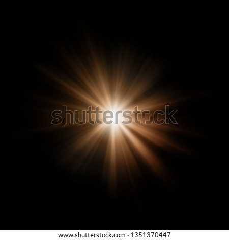 Abstract Isolated Sun flair on a dark background with lights and sunshine wallpaper  #1351370447