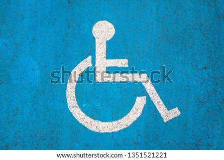 Sign and place for disabled people #1351521221