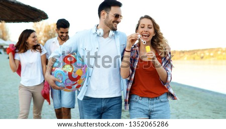 summer, holidays, vacation and happiness concept #1352065286