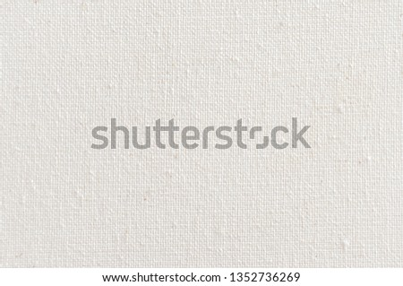 Texture of natural linen fabric. White canvas texture background. Natural linen.  #1352736269