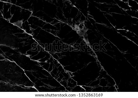 black marble pattern texture natural background, Interiors marble stone wall, marble texture abstract background #1352863169