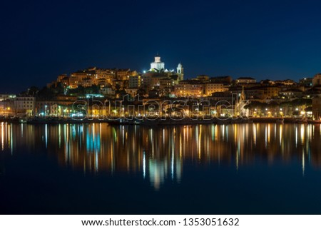 Imperia old town by night. Liguria region, Italy #1353051632
