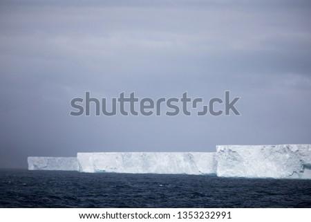 Huge Tabular iceberg in the Antarctic.  #1353232991