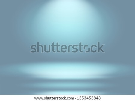 Abstract Luxury gradient Blue background. Smooth Dark blue with Black vignette Studio Banner. #1353453848