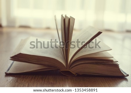Old vintage book with backlight #1353458891