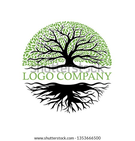 Root Of The Tree logo illustration vector #1353666500