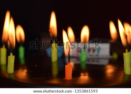 Cute Happy Birthday Cake images with candles