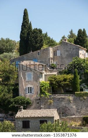 Medieval hilltop town of Gordes. Provence. France. #1353871376