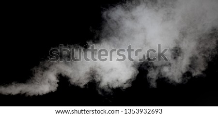 white smoke or fog blow to up against dark background  #1353932693