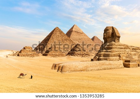 The Pyramids of Giza and the Great Sphinx, Egypt #1353953285