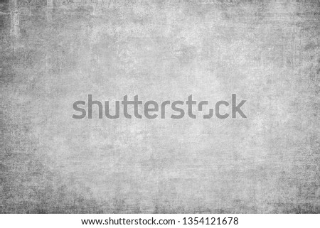 Monochrome texture with white and gray color. It is a concept, conceptual or metaphor wall banner, grunge, material, aged, rust or construction. #1354121678