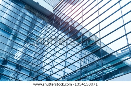 Architecture details Modern Building Glass facade Business background #1354158071
