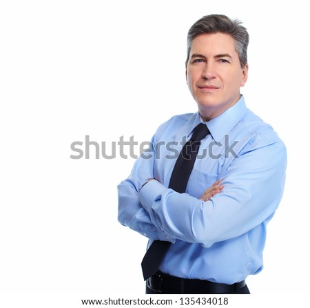 Portrait of handsome Businessman isolated on white background. #135434018