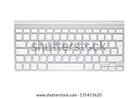 Computer keyboard. Isolated on white background Royalty-Free Stock Photo #135453620