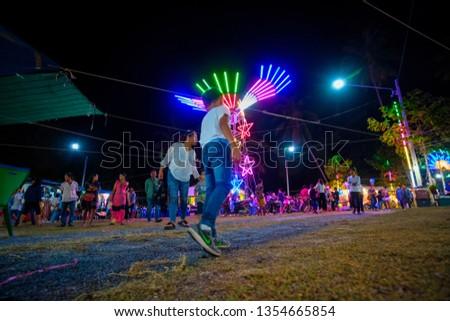 people in samaikongka temple festival 30 march 2019 Koh phangan suratthani THAILAND #1354665854