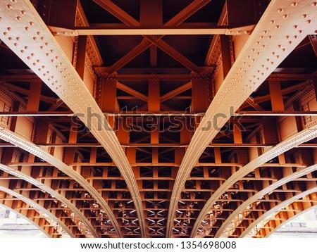 Bridge construction Metal sheet structure pattern Architecture details #1354698008