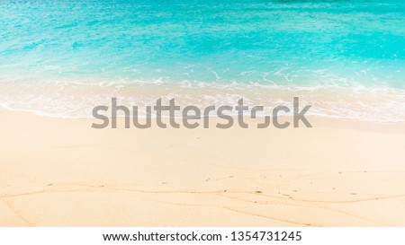 Summer beach background #1354731245