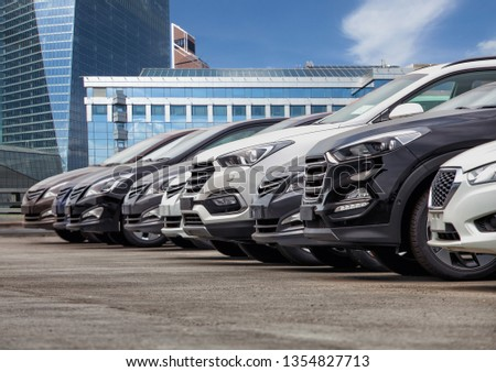 Cars For Sale Stock Lot Row. Car Dealer Inventory #1354827713