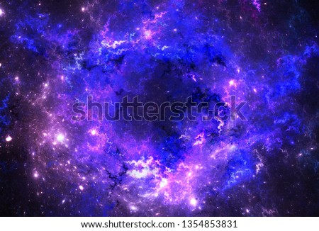 Illustration of a space and starfield on a dark background. #1354853831