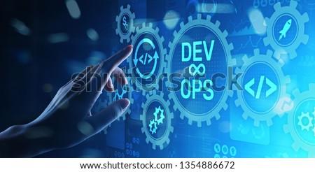 DevOps Agile development concept on virtual screen. #1354886672