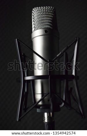 Studio microphone in the studio #1354942574