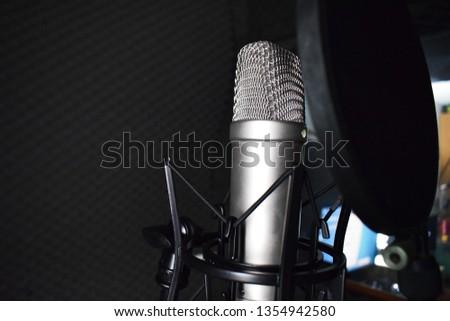 Studio microphone in the studio #1354942580