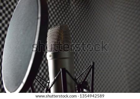 Studio microphone in the studio #1354942589