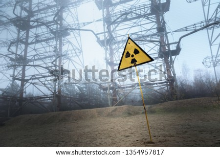 Radioactivity sign in Chernobyl  #1354957817