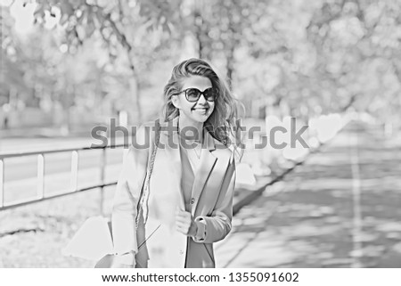 vintage adult girl summer tint / happy adult woman having fun and enjoys summer summertime girl #1355091602