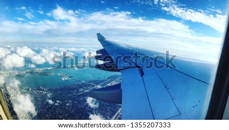 Picture From a Plane flying over Miami