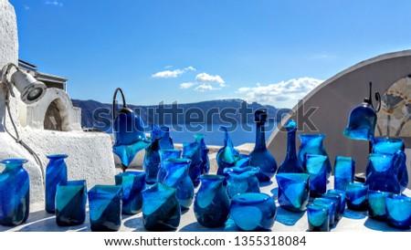 Glass collection in Santorini, Greece #1355318084