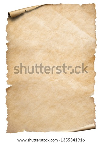 Vintage paper textured object isolated on white #1355341916