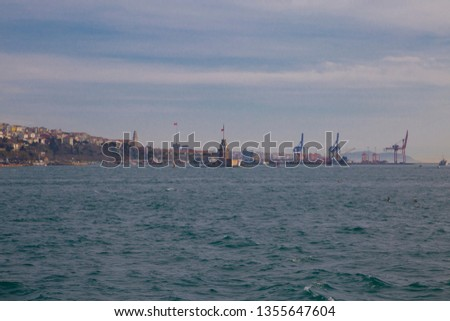 Istanbul Turkey ; March 31, 2019; city View #1355647604