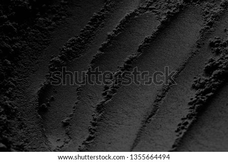 carbon powder or fine black charcoal powder texture pattern for background #1355664494