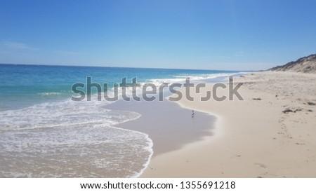 ocean and empty beach #1355691218